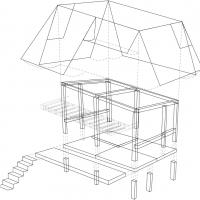 Aksonometri_ Tent-house